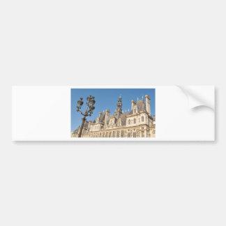 Hotel de Ville (City Hall) in Paris, France Bumper Sticker