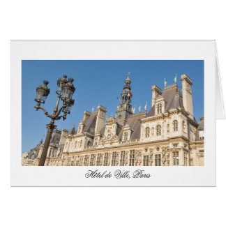 Hotel de Ville (City Hall) in Paris, France Card