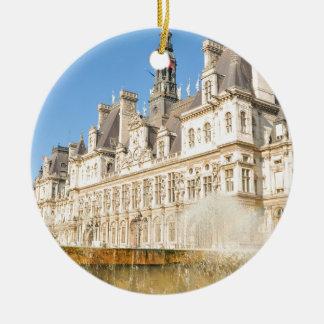 Hotel de Ville (City Hall) in Paris, France Christmas Ornament