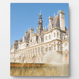 Hotel de Ville (City Hall) in Paris, France Plaque