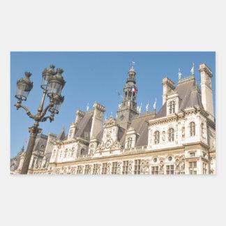 Hotel de Ville (City Hall) in Paris, France Rectangular Sticker