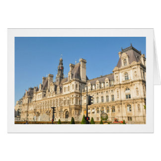 Hotel de Ville in Paris, France Card