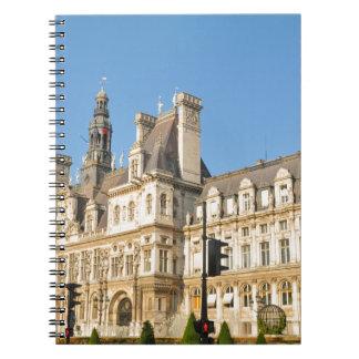 Hotel de Ville in Paris, France Notebook