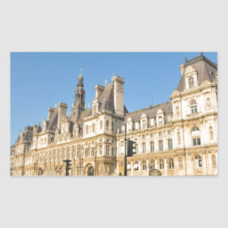 Hotel de Ville in Paris, France Rectangular Sticker