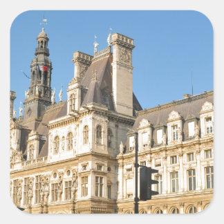 Hotel de Ville in Paris, France Square Sticker