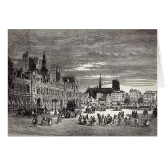 Hotel de Ville, Paris, 1847 Card