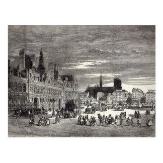 Hotel de Ville, Paris, 1847 Postcard