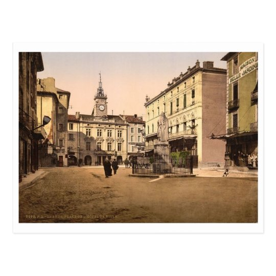 Hotel de ville place, Orange, Provence, France Postcard