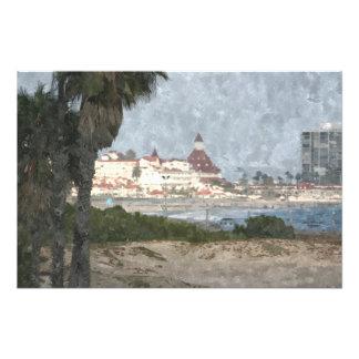 Hotel Del Coronado oil painting Photograph