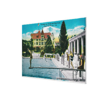 Hotel Del Monte Swimming Tank and Solarium Stretched Canvas Prints