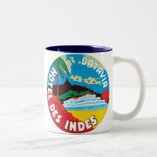 Hotel Des Indes Batavia Two-Tone Coffee Mug