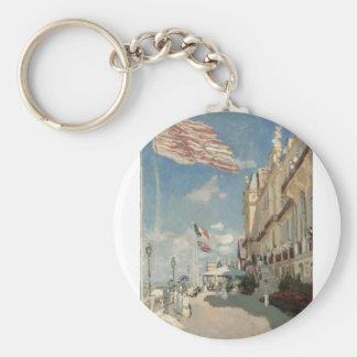 Hôtel des Roches Noires, Trouville (1870) Basic Round Button Key Ring
