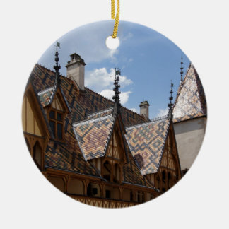 Hotel-Dieu De Beaune France Building Architecture Christmas Ornament