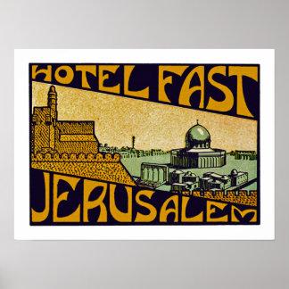 Hotel Fast Jerusalem Poster