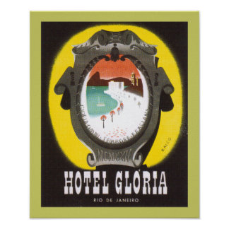 Hotel Gloria Rio de Janeiro (border) Poster