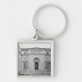 Hotel Gouthiere, courtyard fa�ade Silver-Colored Square Key Ring