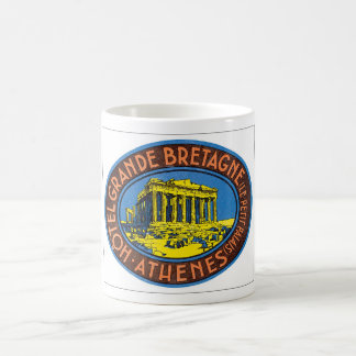 Hotel Grande Bretagne Athenes_Vintage Travel Basic White Mug