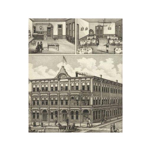 Hotel Hicks, Stockton, Kansas Stretched Canvas Prints