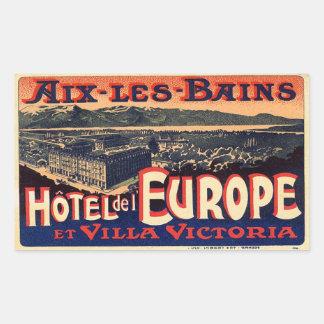 Hotel LED Europe (Aix Baths) Rectangular Sticker