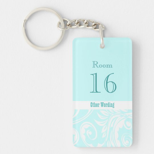 Hotel lodge resort room key (double sided rectangl