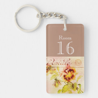Hotel lodge resort room key Single-Sided rectangular acrylic keychain