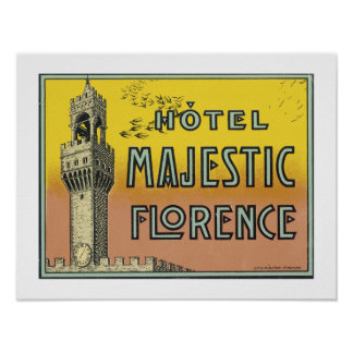 Hotel Majestic Florence (border) Poster
