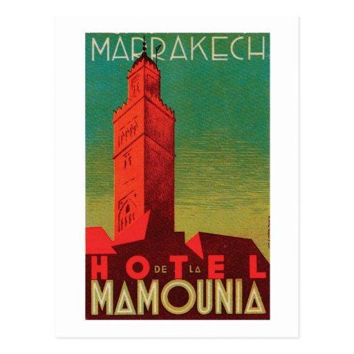 Hotel Mamounia Marrakech Postcard