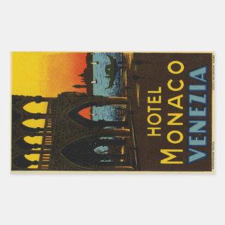 Hotel Monaco Venezia Rectangular Sticker