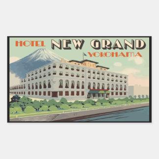 Hotel New Large Yokohama (Japan) Rectangular Sticker