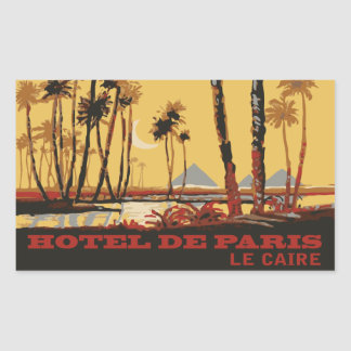 Hotel of Paris (Cairo - Egypt) Vector format Rectangular Sticker