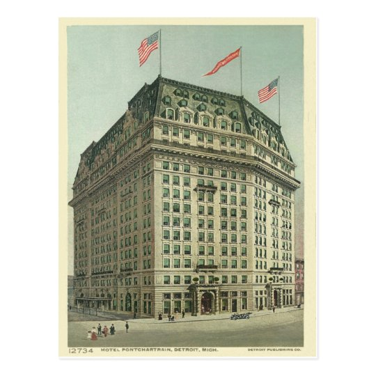 Hotel Pontchartrain Detroit Michigan Postcard