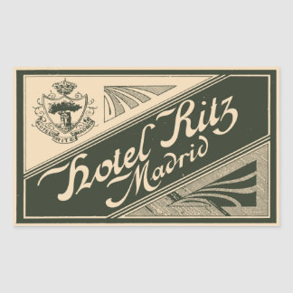 Hotel Ritz (Madrid - Spain) Rectangular Sticker