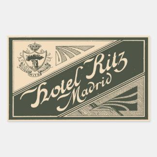 Hotel Ritz (Madrid - Spain) Rectangular Sticker
