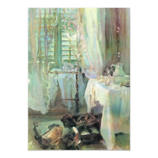 Hotel Room by Sargent, Vintage Victorian Fine Art Invite