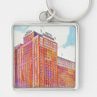 Hotel Sherman Chicago Illinois Keychain