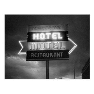 Hotel Sign, 1942 Postcard