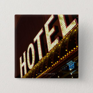 Hotel sign, Las Vegas, Nevada 15 Cm Square Badge
