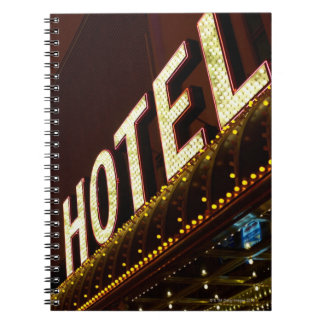 Hotel sign, Las Vegas, Nevada Spiral Note Book