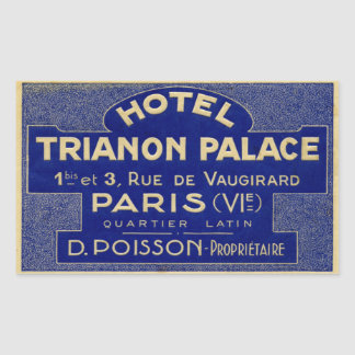 Hotel Trianon Palace (Paris France) Rectangular Sticker