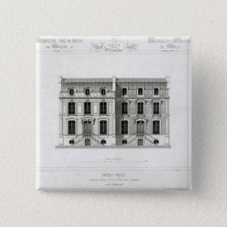 Hotels Prives, 10 & 12 Rue Balzac, Paris 15 Cm Square Badge