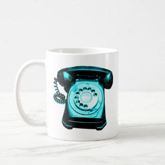 Hotline Cyan Basic White Mug