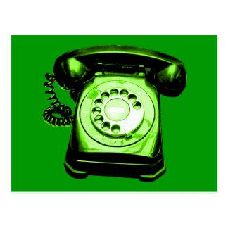 Hotline in Green Postcard