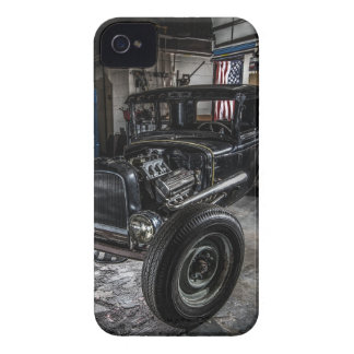 Hotrod in a Garage iPhone 4 Barely There Case