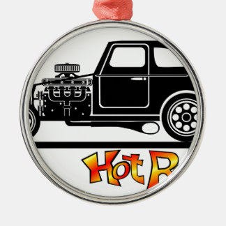 hotrod Silver-Colored round decoration