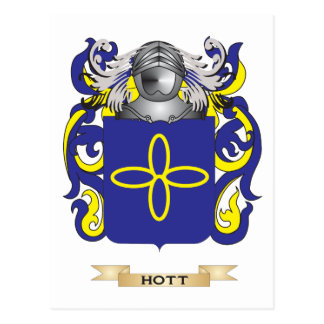 Hott Coat of Arms Family Crest Postcard