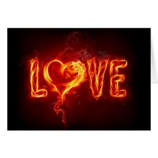 Hott Love Note Card