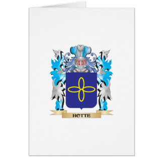 Hotte Coat of Arms - Family Crest Greeting Card