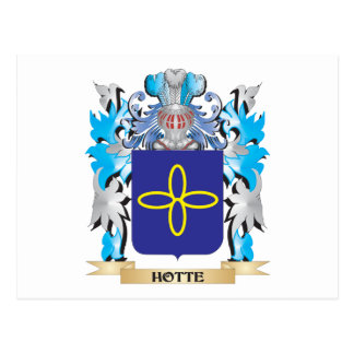Hotte Coat of Arms - Family Crest Post Card