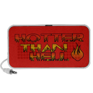 Hotter Than Hell logo Doodle Speaker-Red iPhone Speaker
