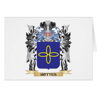 Hottes Coat of Arms - Family Crest Note Card